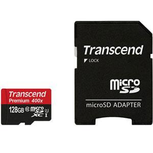 میکرو اس دی 128 گیگابایت ترنسند کلاس 10 Transcend Premium 400X microSDHC