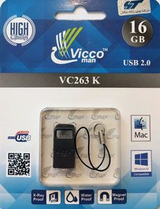 فلش مموری ویکومن ۱۶ گیگابایت مدل Vicco man VC263 K